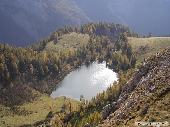 Il Lago di Bordaglia dal Ghiaione Sud