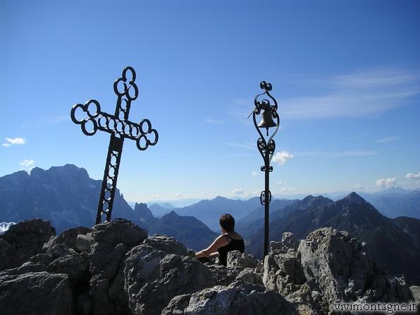 Dalla Cima lo sguardo verso il Montasio